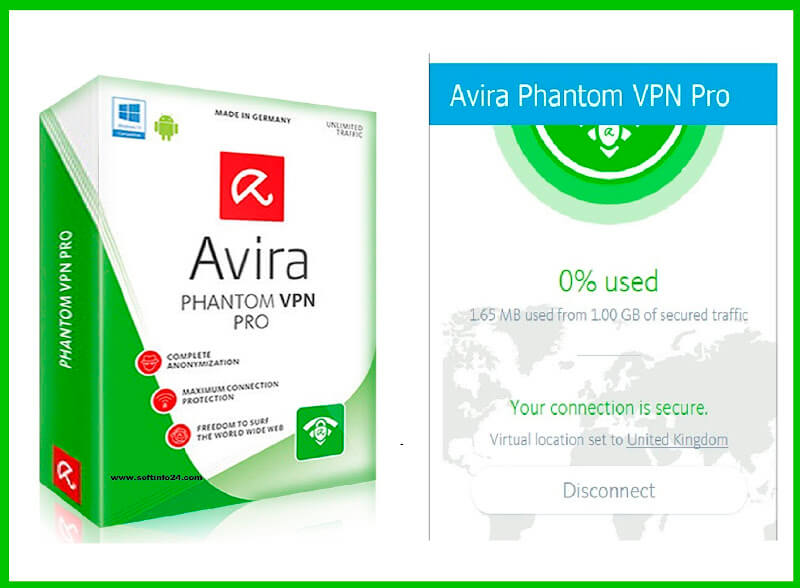 Avira Phantom VPN Pro [2.32.2] Crack + key